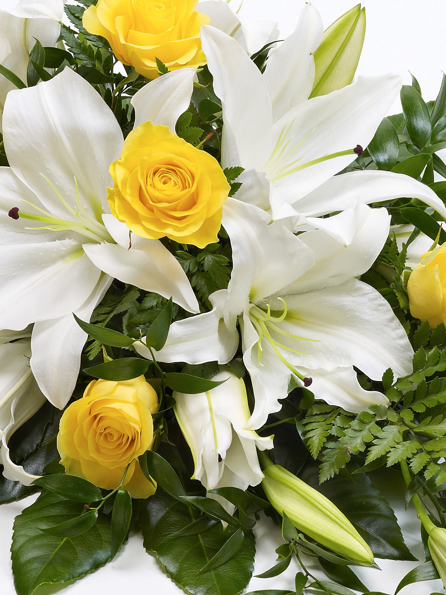 Rose And Lily Spray Yellow White From Flowers