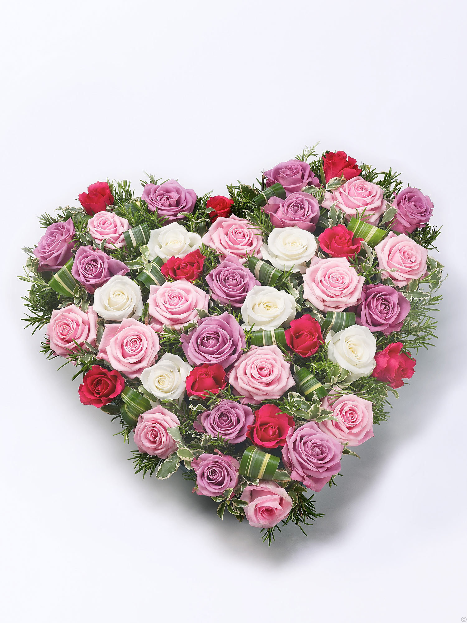 Mixed Rose Heart Red Pink From Flowersie